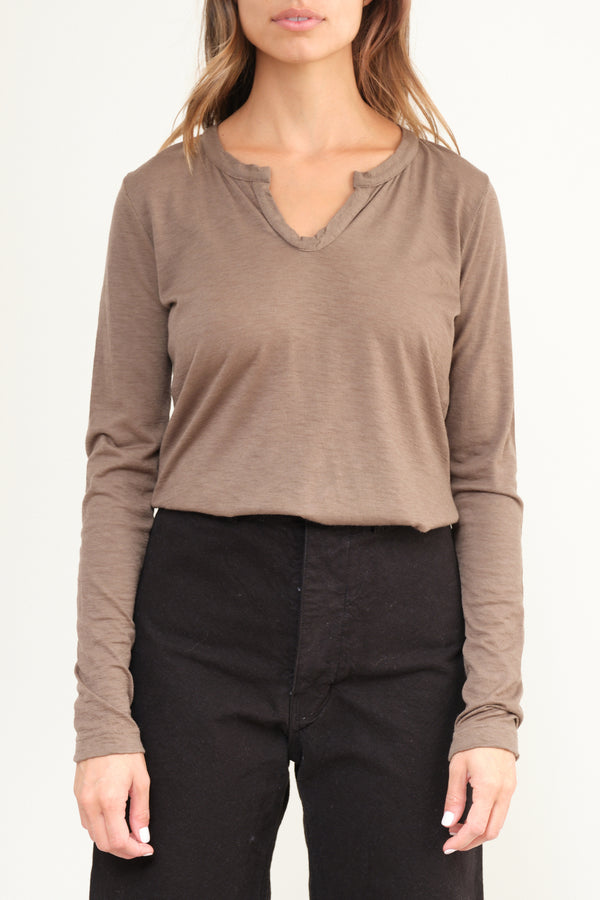 MG-242 Cashmere Long Sleeve in Nut private 0204