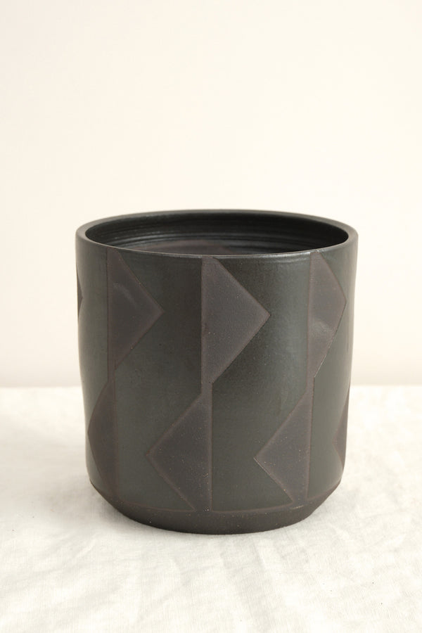 Bkb ceramics large black planters
