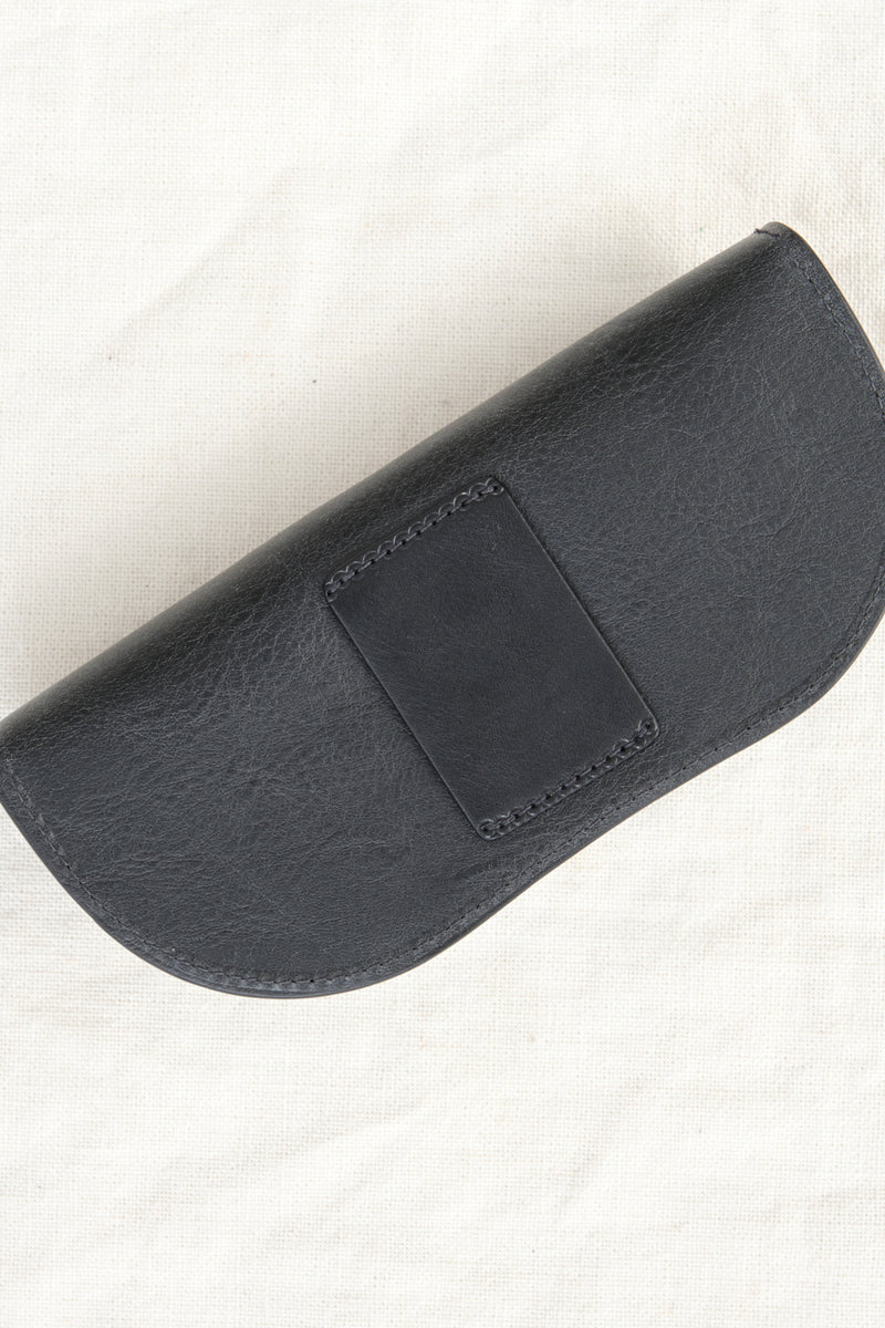 Il bisonte Glasses Case black leather