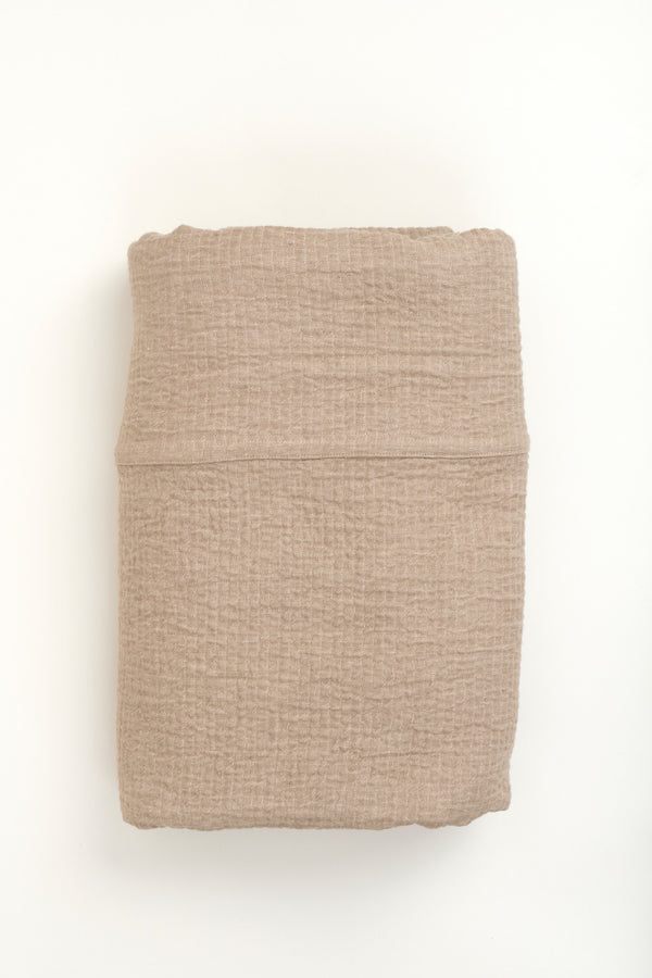 Maison de Vacances 9' x 10' Vice Versa Quilted Throw Taupe