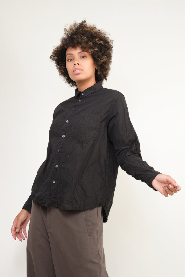 pas de calais crinkle blouse in black