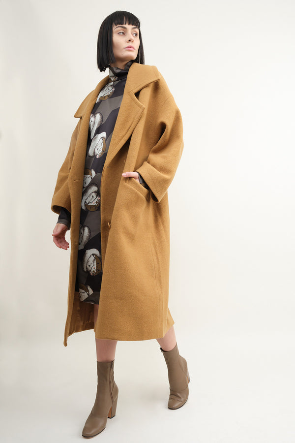7115 by Szeki oversized long wool coat