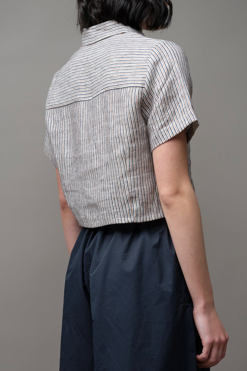 7115 by szeki Striped Button Down in Pinstripes