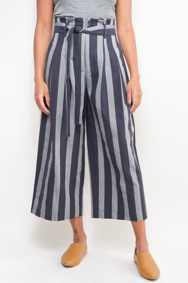Dark Stripe Pleated Trouser 7115 by Szeki