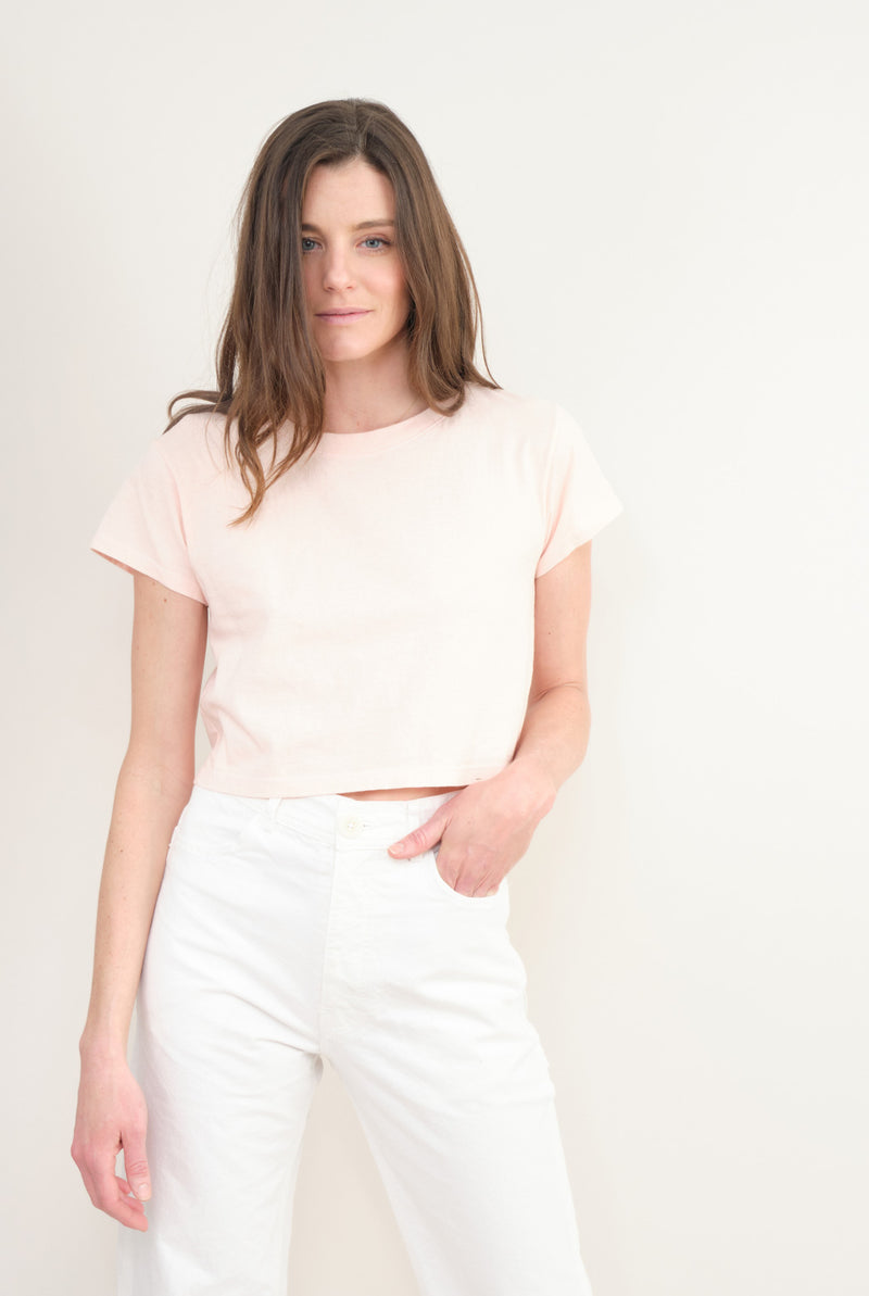 Harlin Stella Crop Tee In Blush