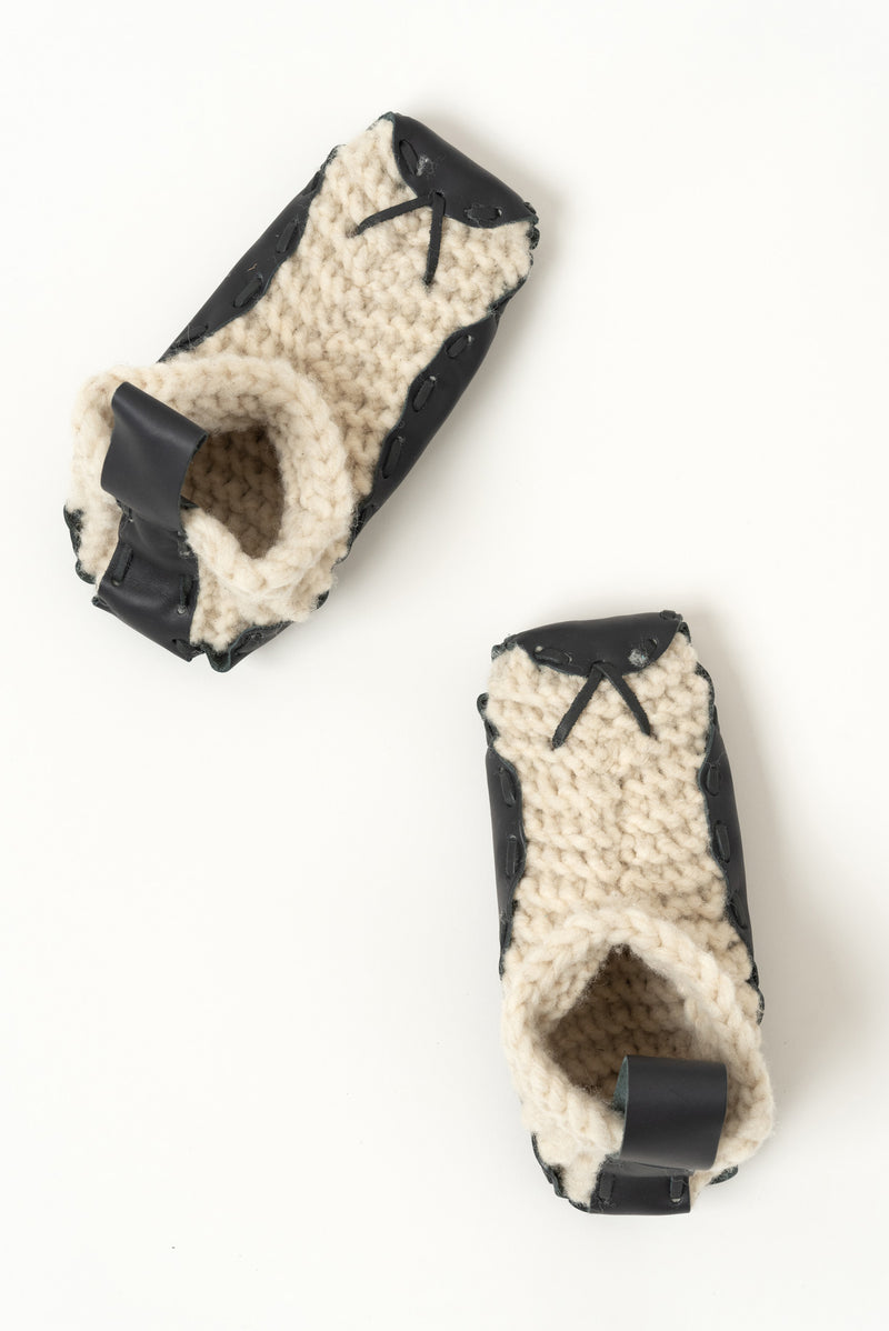 Leather and Wool Slippers