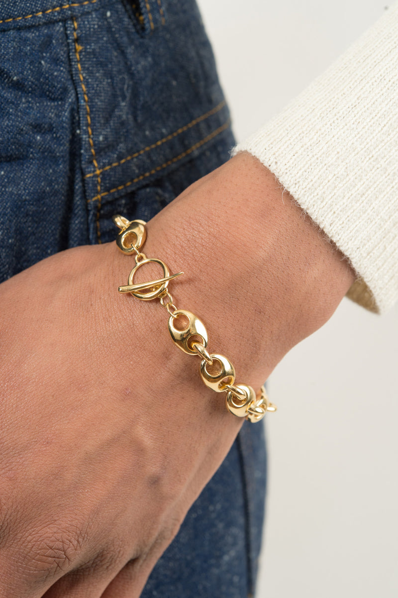 Women's Gold Chain Link Bracelet