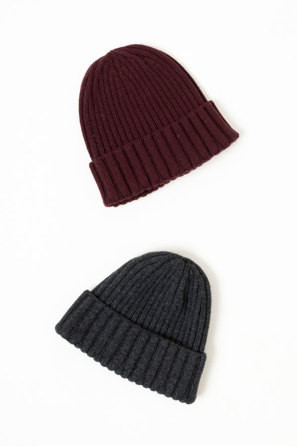 Grei Watchman Beanie In Burgandy