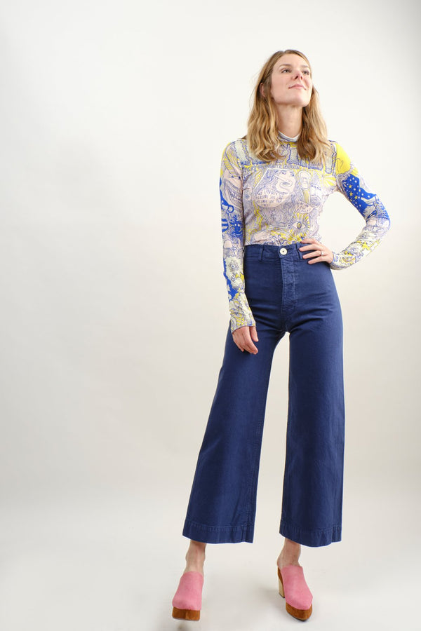 Jesse Kamm Sailor Pant In Bill Cunningham Blue