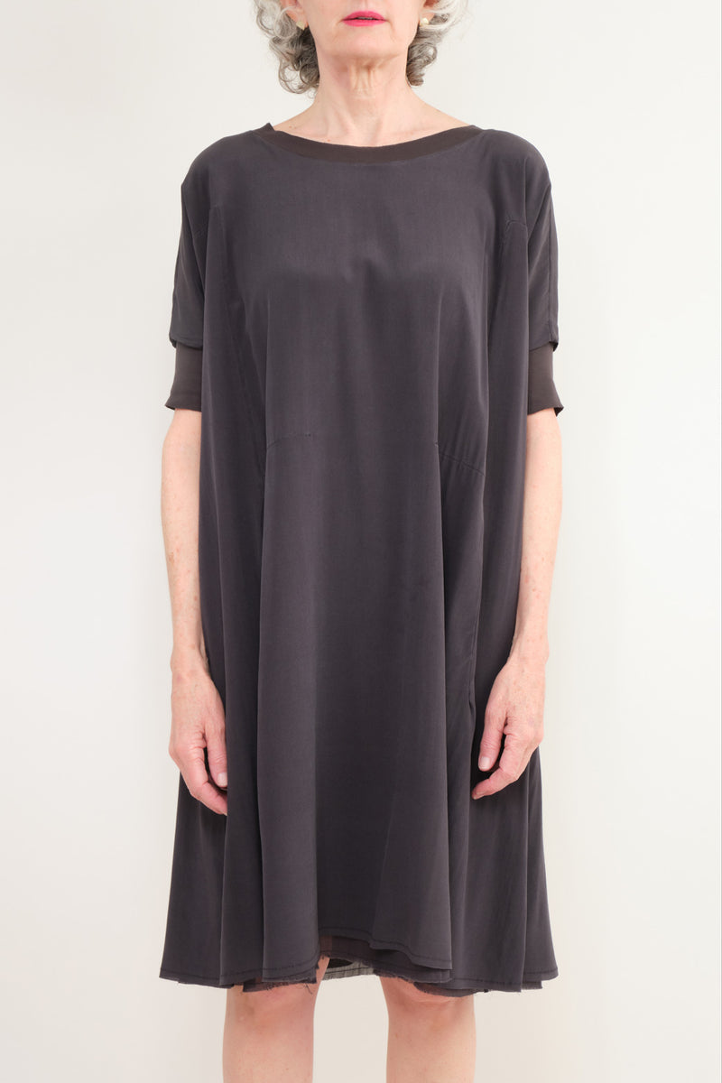 Kristensen du Nord Silk Dress Graphite