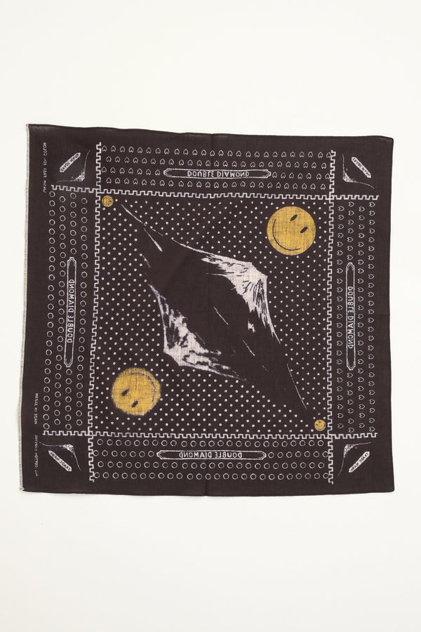 Fastcolor Selvedge Bandana (Mirrored FUJI Smile) kapital