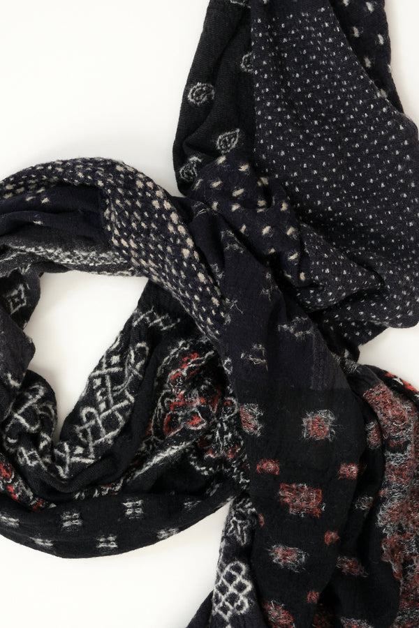 Compressed Wool Scarf Bandana Patchwork kapital