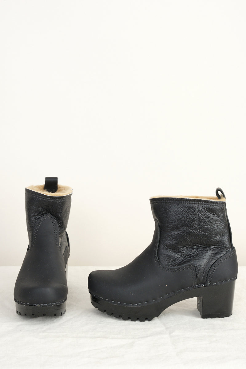 "no. 6 5"" Pull On Shearling Clog Boot on Mid Tread"