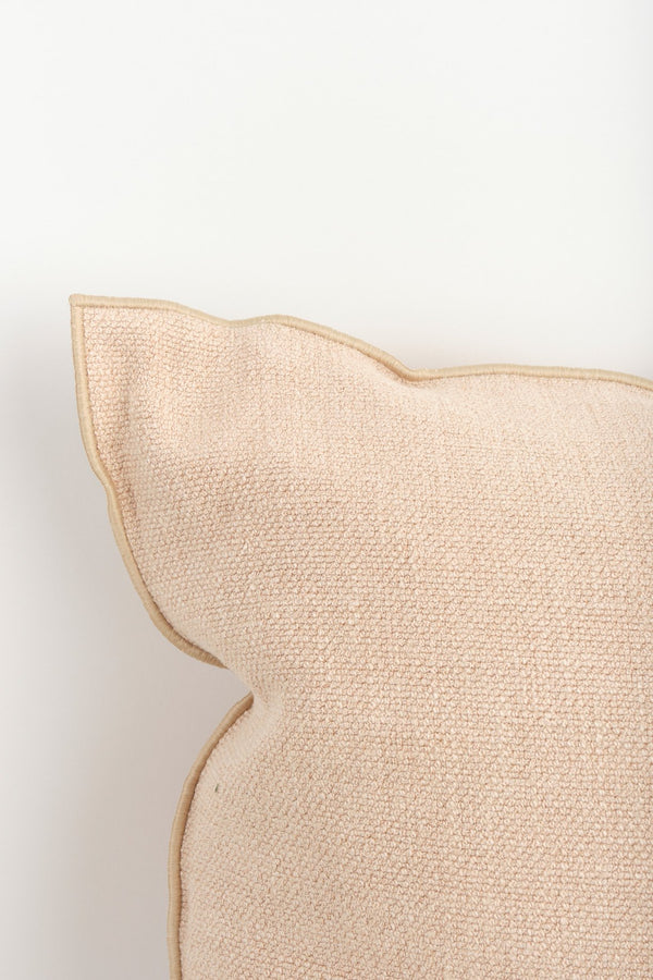 "Maison de Vacances 26 x 26"" Vice Versa Cushion In Nude"