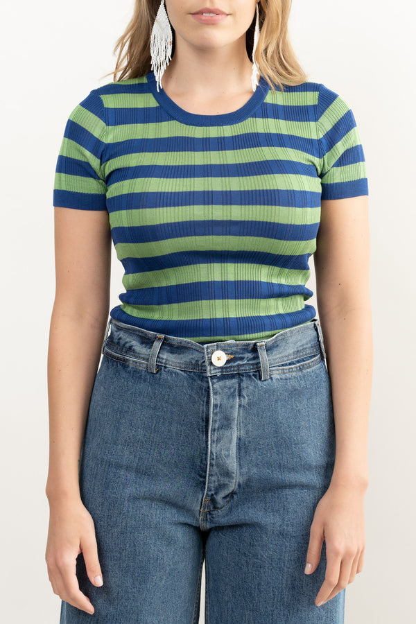 Women's Fitted Striped Tee