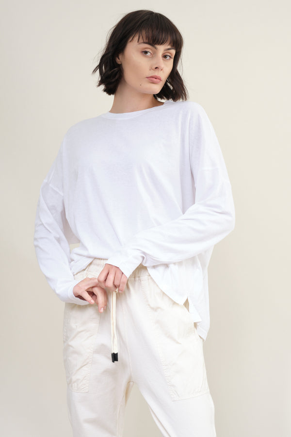 bassike Slouch Side Step L/S T-Shirt
