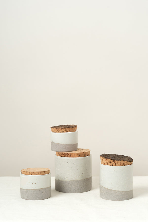 Humble Ceramics 4.5 X 4.5 Corked Canister