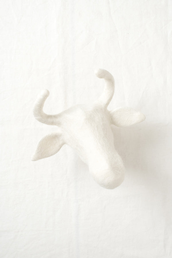 ronel jordaan felted animal head sculptures