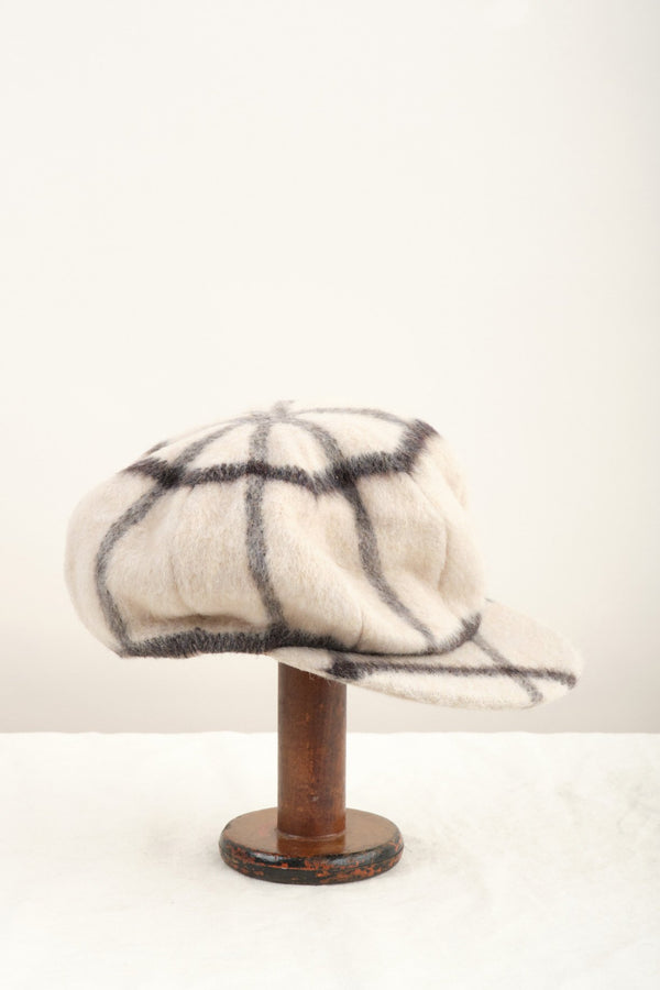 Clyde Kingston Hat Cream Plaid