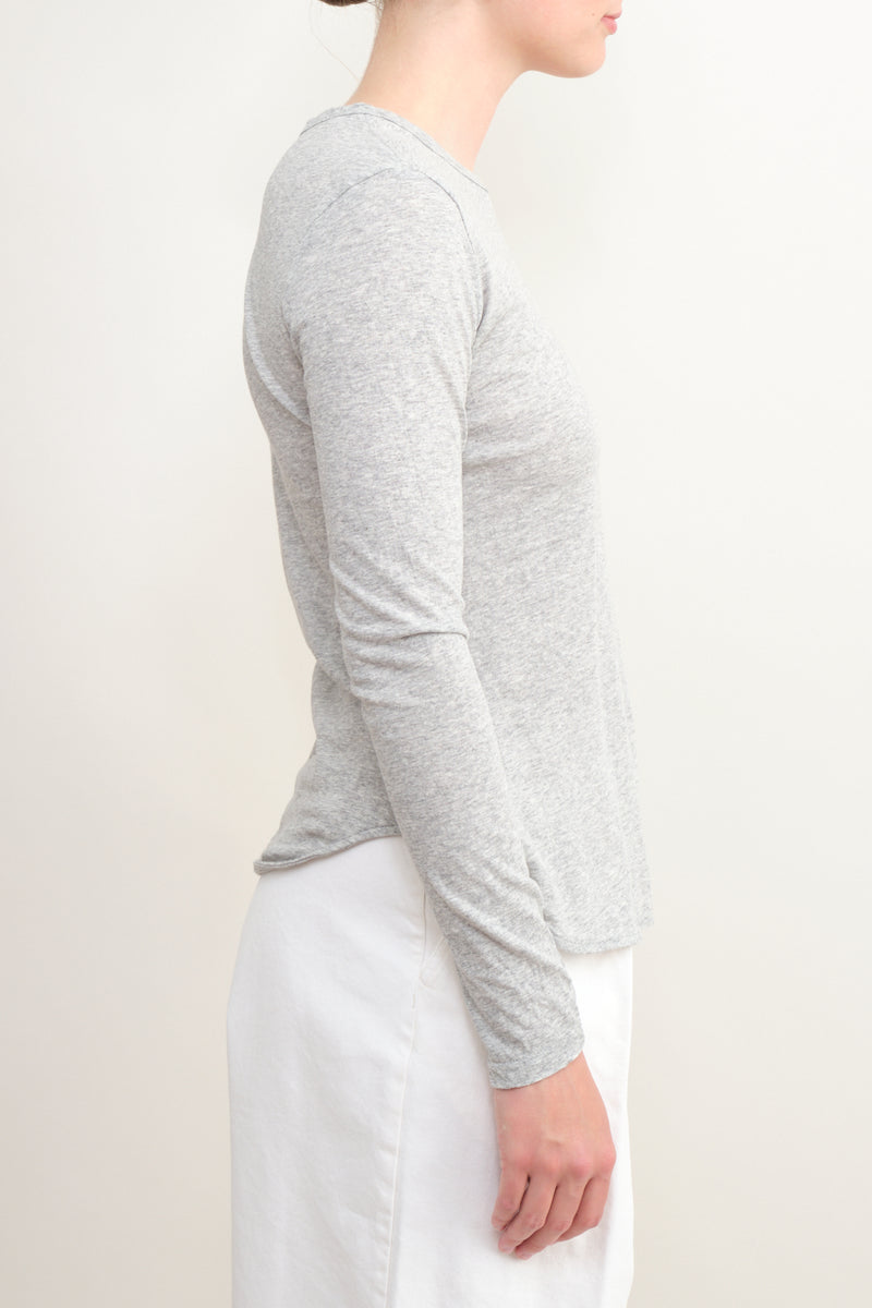 organic cotton long sleeve tee Bassike