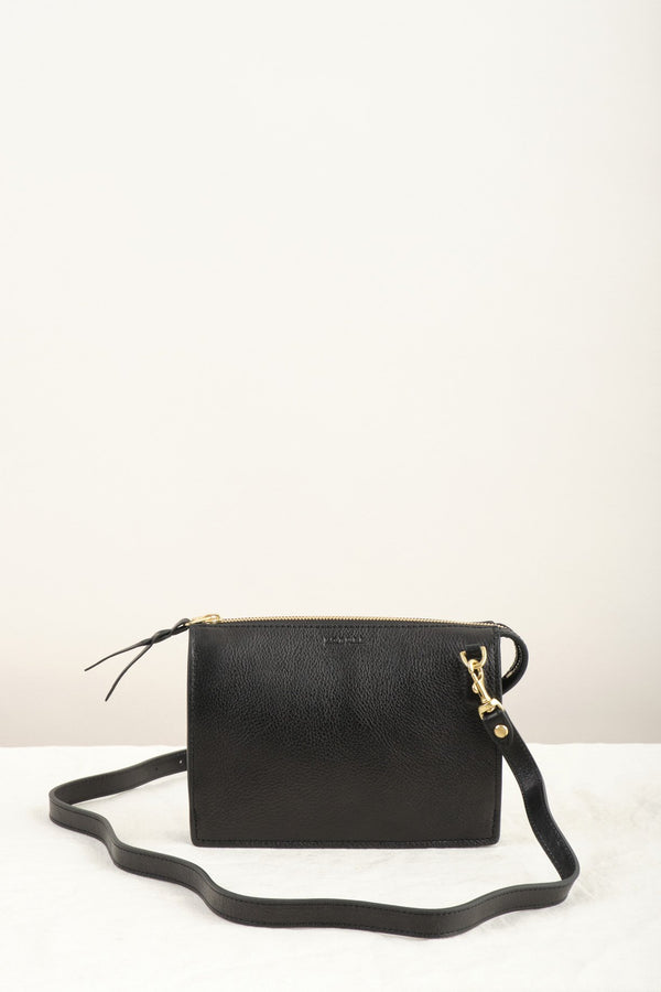 Lotuff Leather Black Crossbody