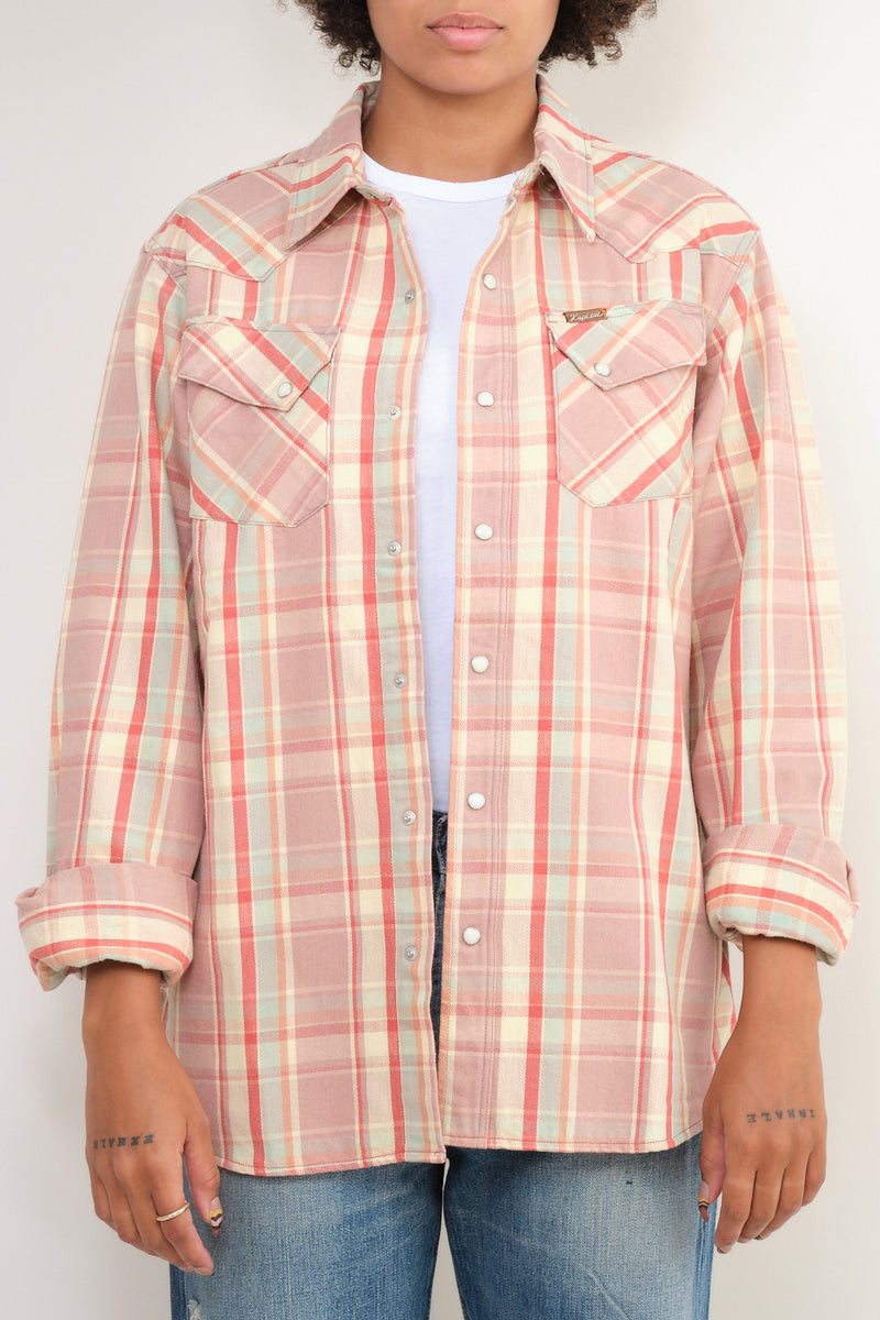 Flannel Check Western Shirt kapital