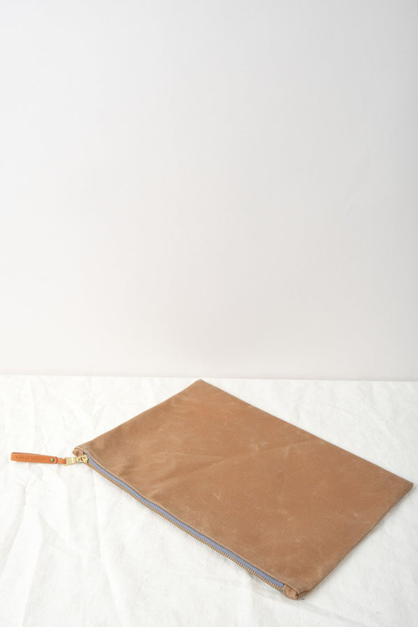 Winter Session Waxed Canvas Zip Folio Walnut