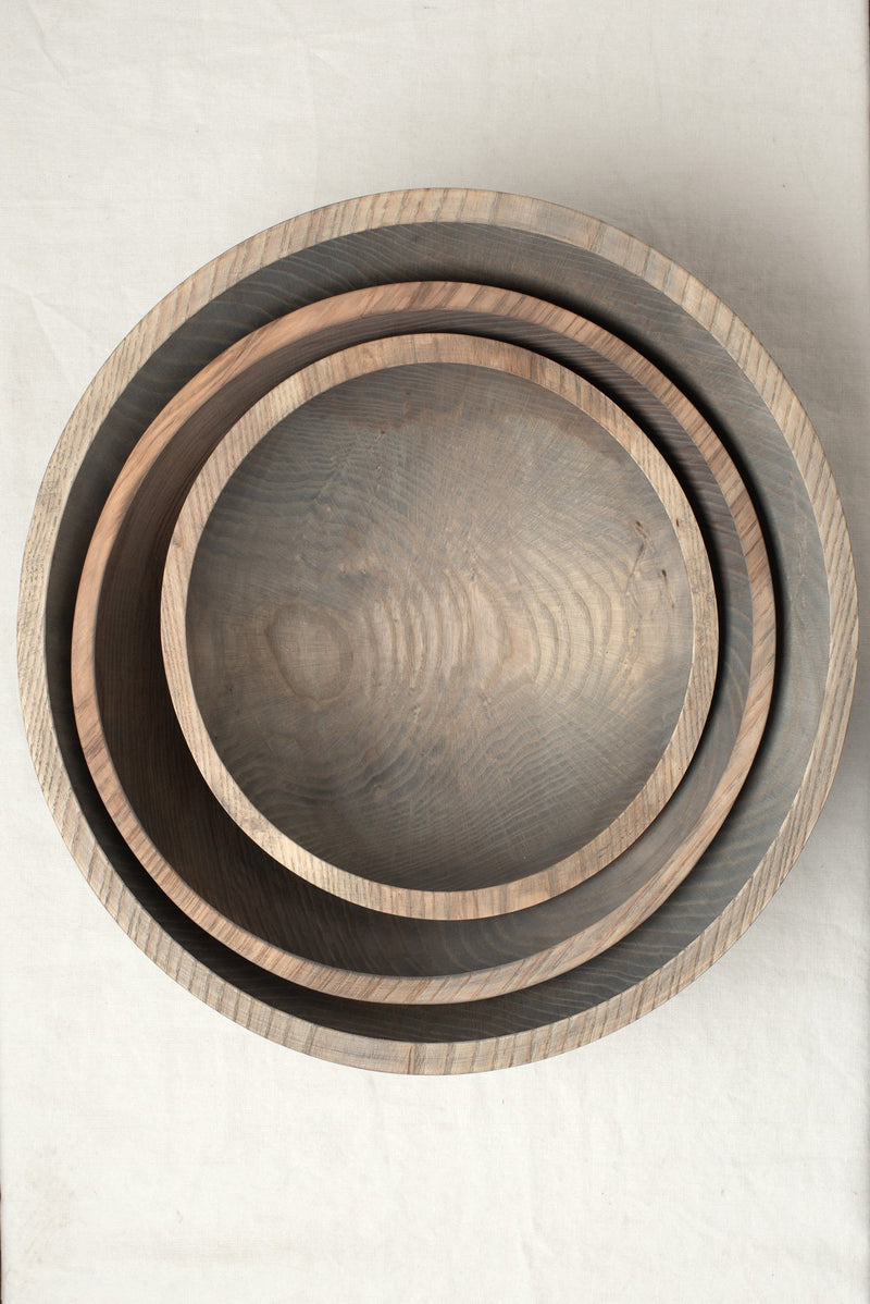 "Farmhouse Pottery 12"" Craft Wooden Bowl Grey"