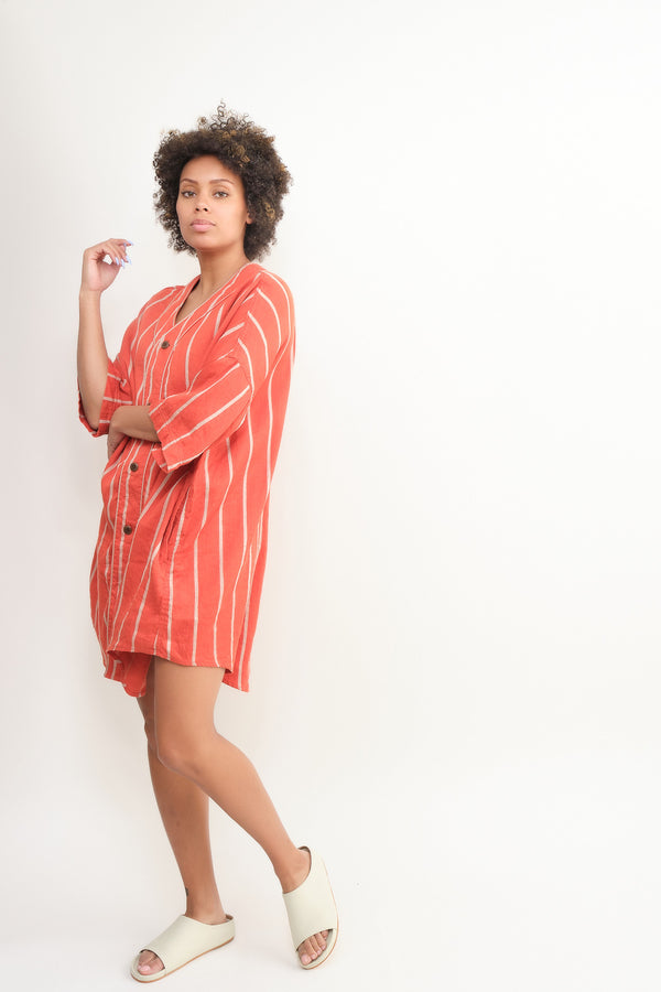 kapital linen phillies stripe sloppy baseball shirt