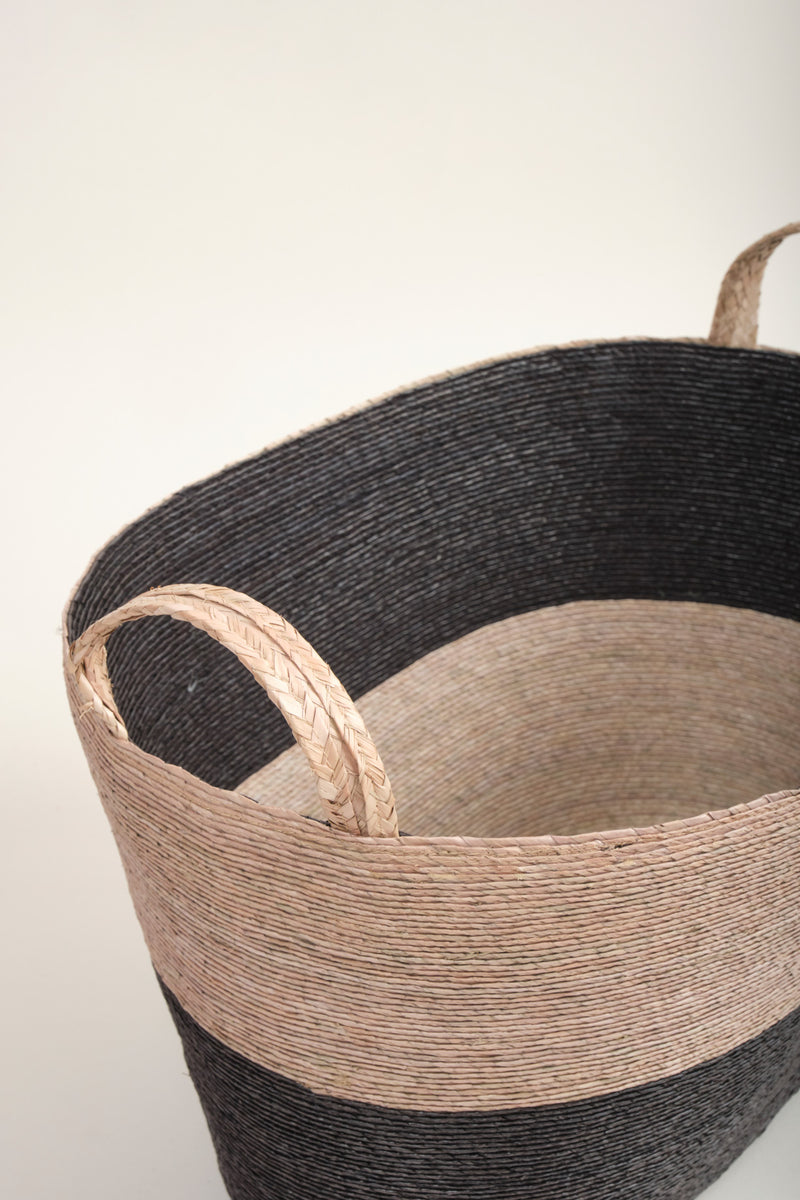 Large Oval Floor Basket makaua