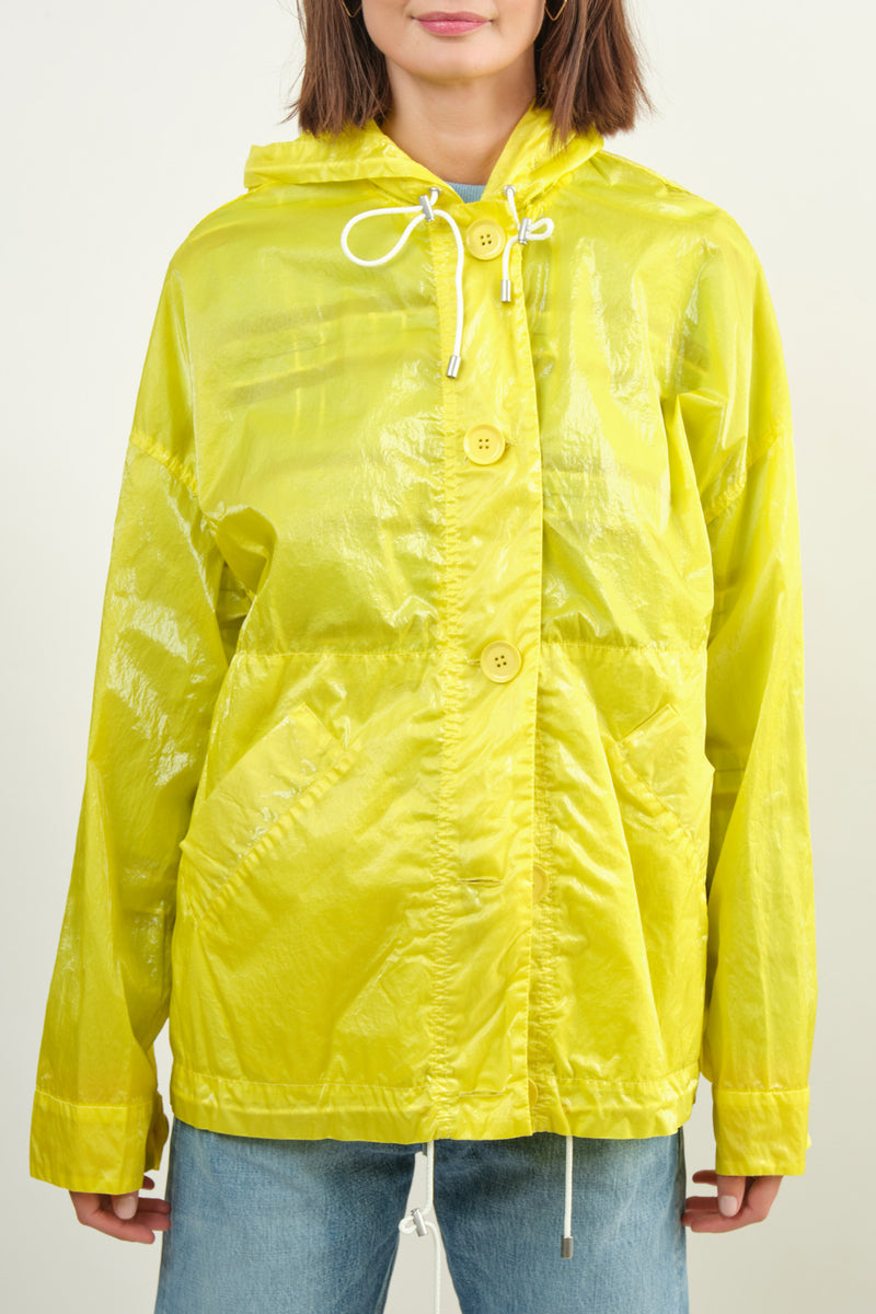 Neon Yellow Rain Coat