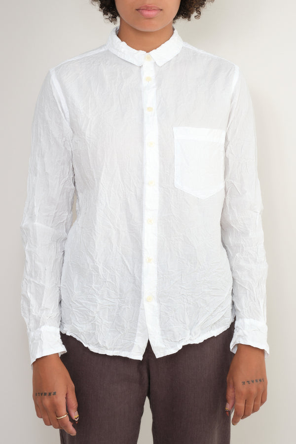 white crinkle button up pas de calais