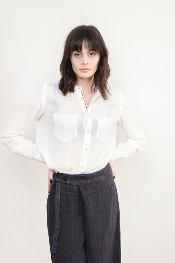 pas de calais Gauzy Cotton Blouse