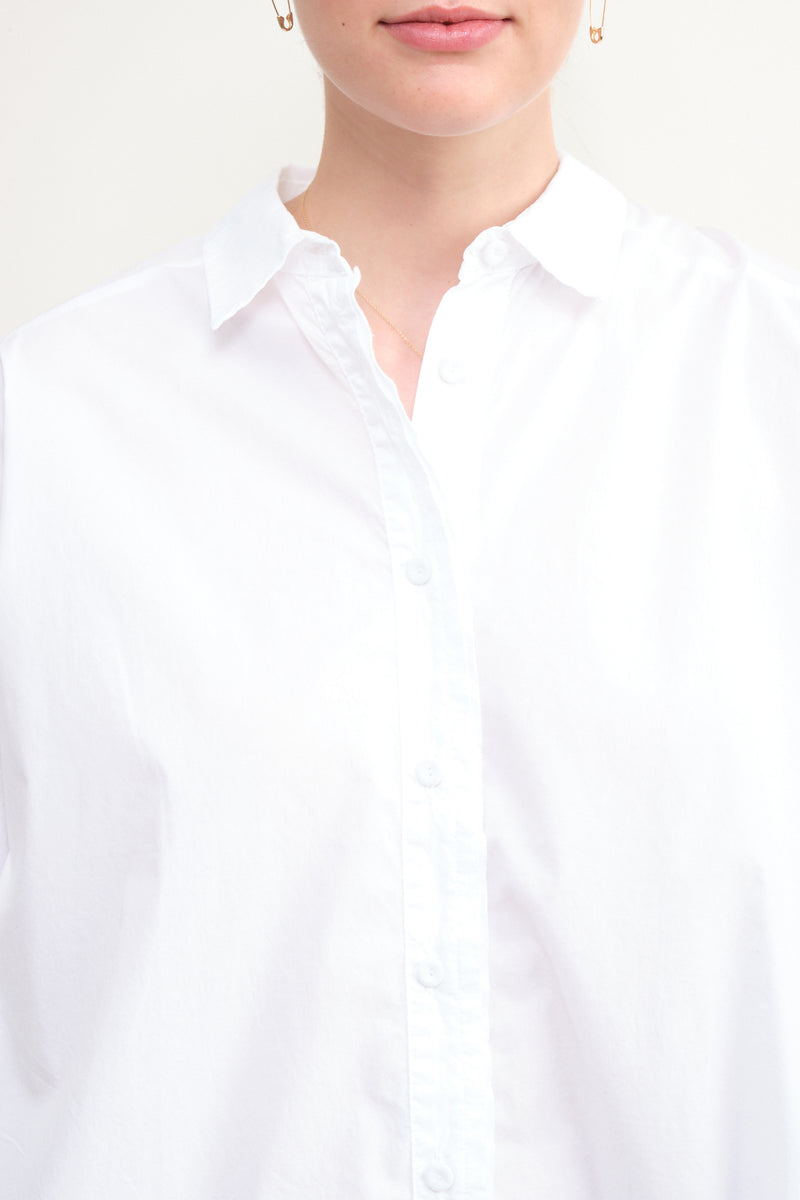 white cotton button up Kristensen du Nord