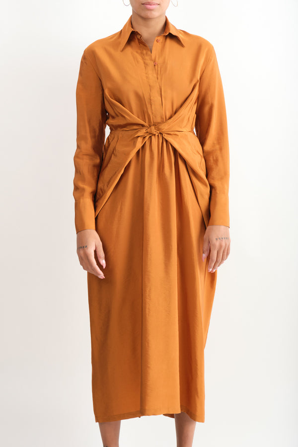 Christian Wijnants Danya Long Dress Rust