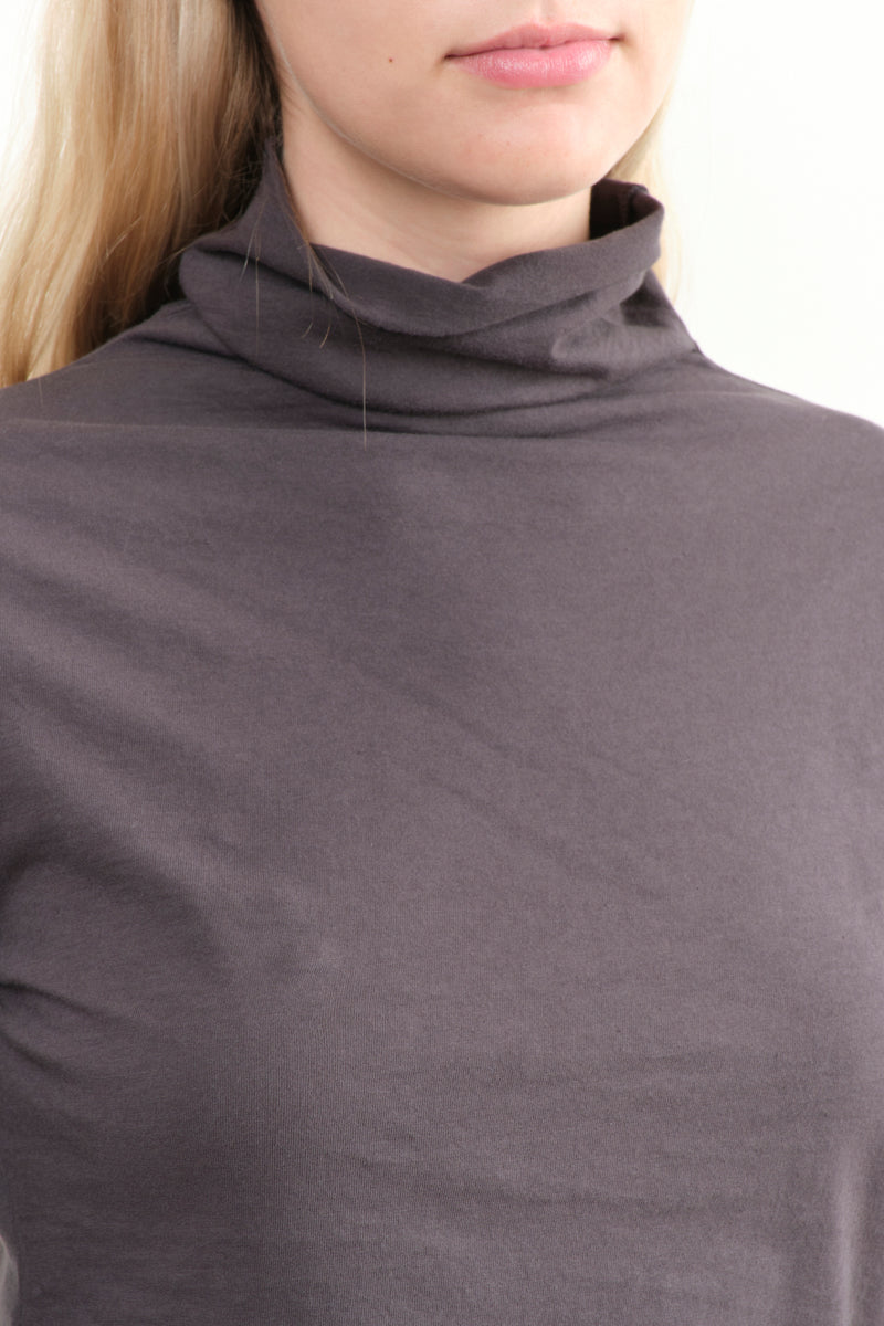 Evam Eva C & S Turtleneck In Sumi Cotton
