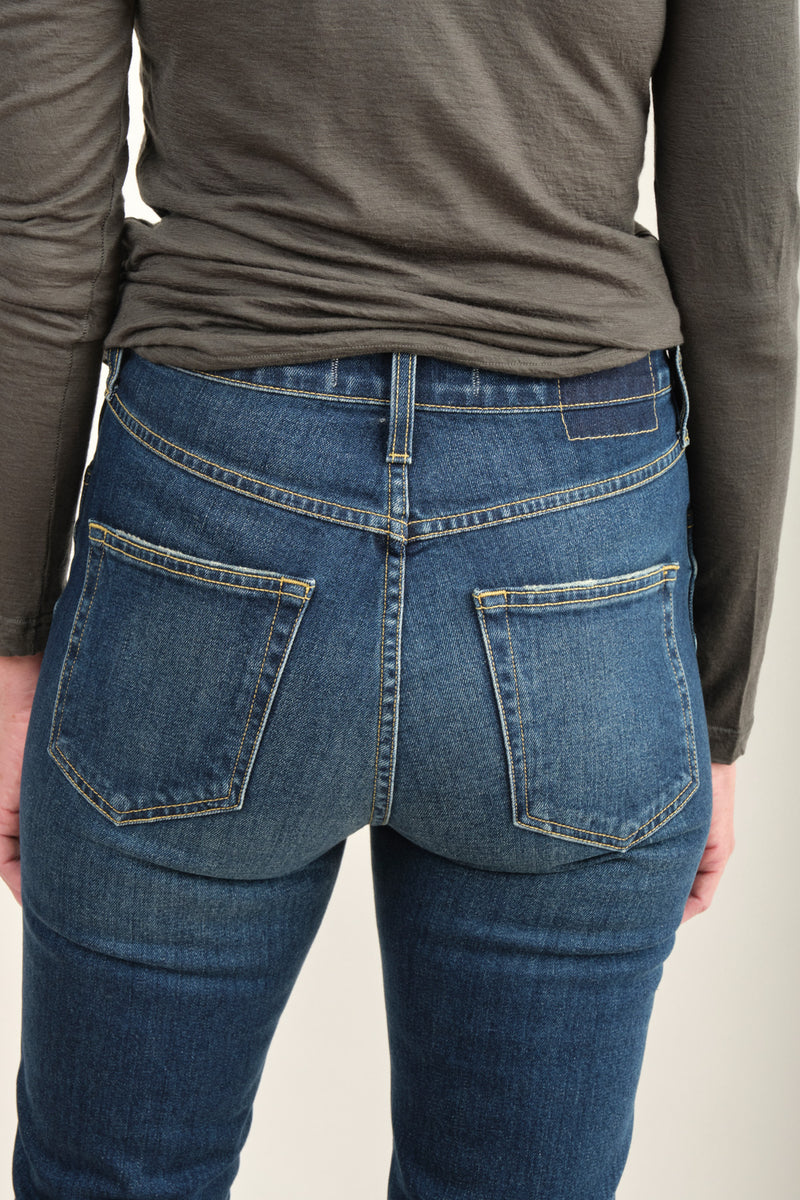 Amo Denim Chloe Crop Dark Wash