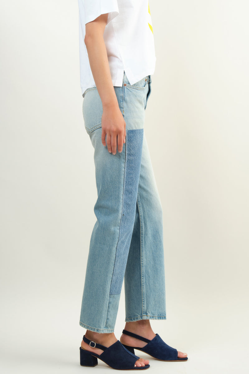 Mid-rise denim