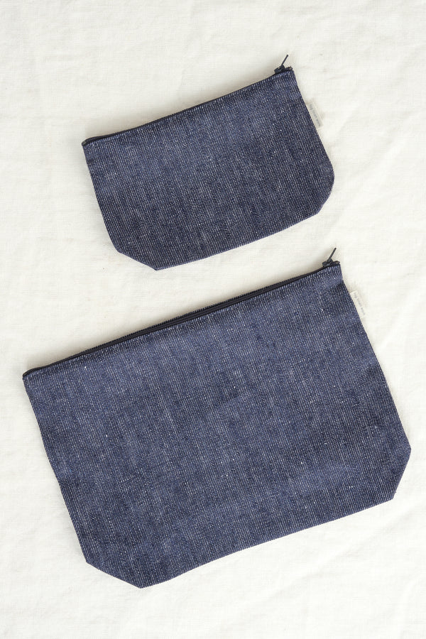 Fog Linen Work zipper pouch