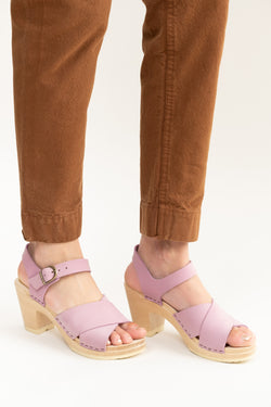 Coco Cross Front Sandal on High Heel