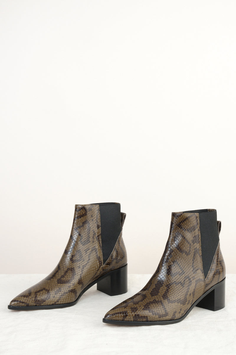 snake print ankle boot ATP ATELIER