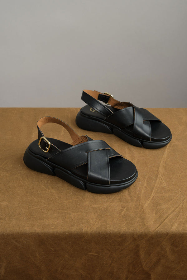 ATP ATELIER Barisci Chunky Sandals in Black