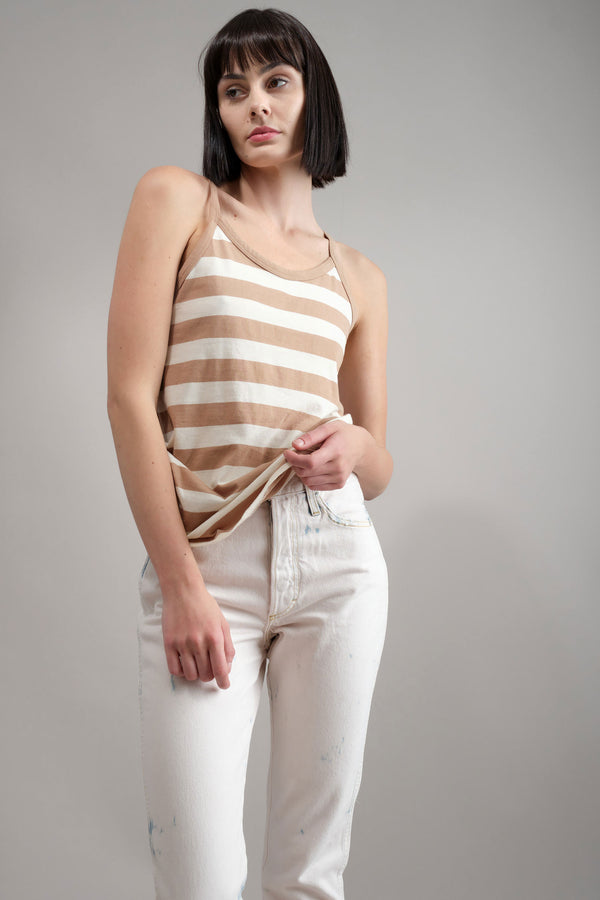 70s Vintage Tank in Dune Stripe Amo Denim