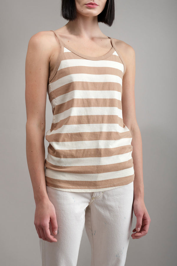 Amo Denim 70s Vintage Tank in Dune Stripe