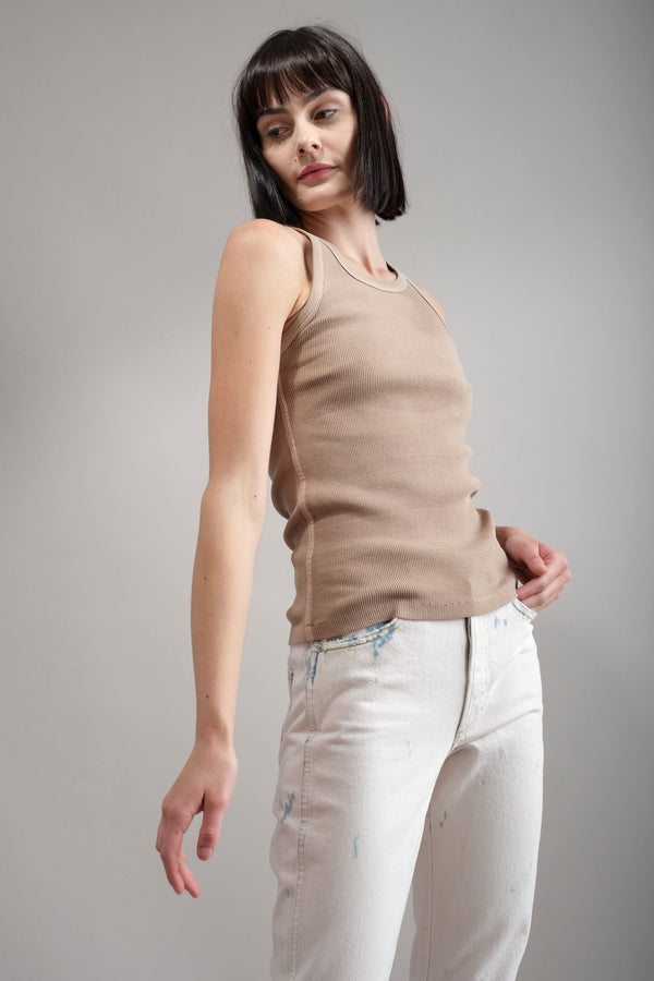 Long Rib Tank in Dune amo denim