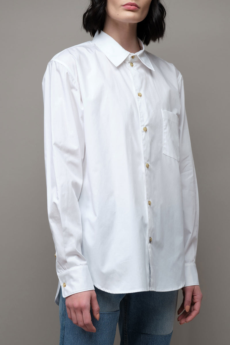 Bassike Longerline Cotton Shirt