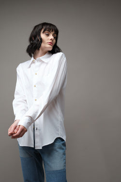 Longerline Cotton Shirt Bassike