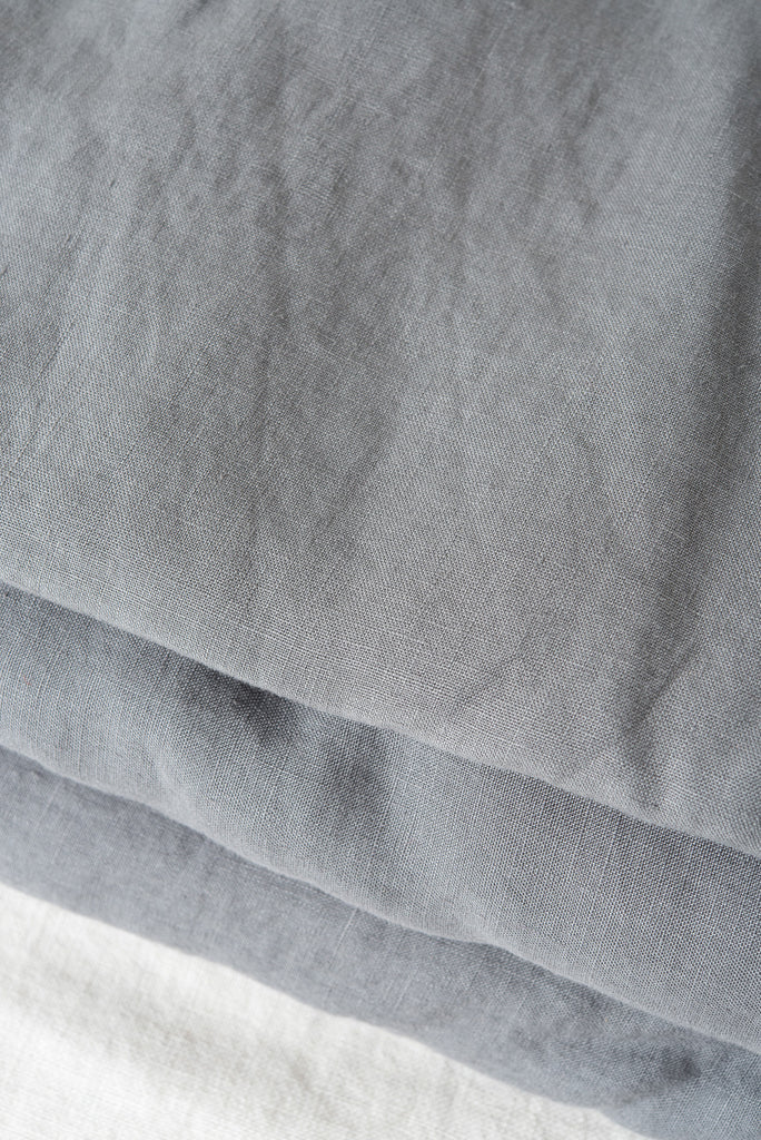 in bed queen linen sheets charcoal