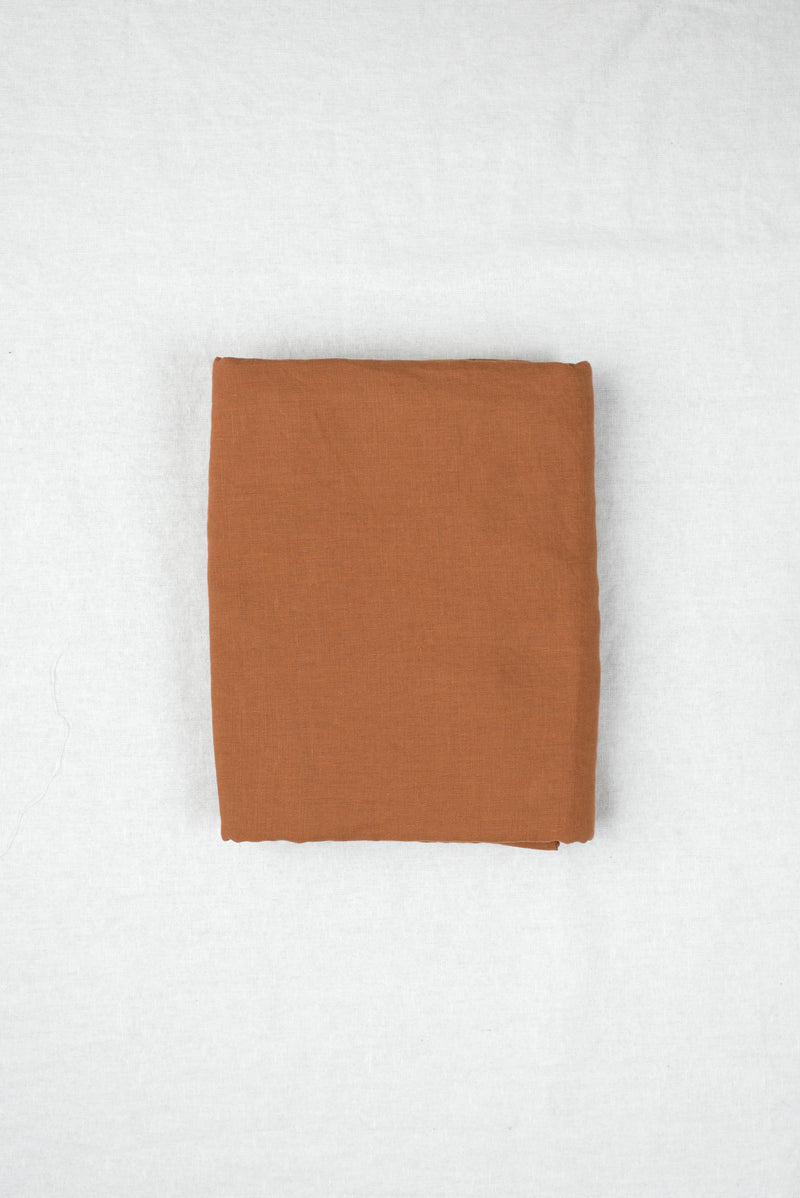 King Linen Fitted Sheet In Tobacco