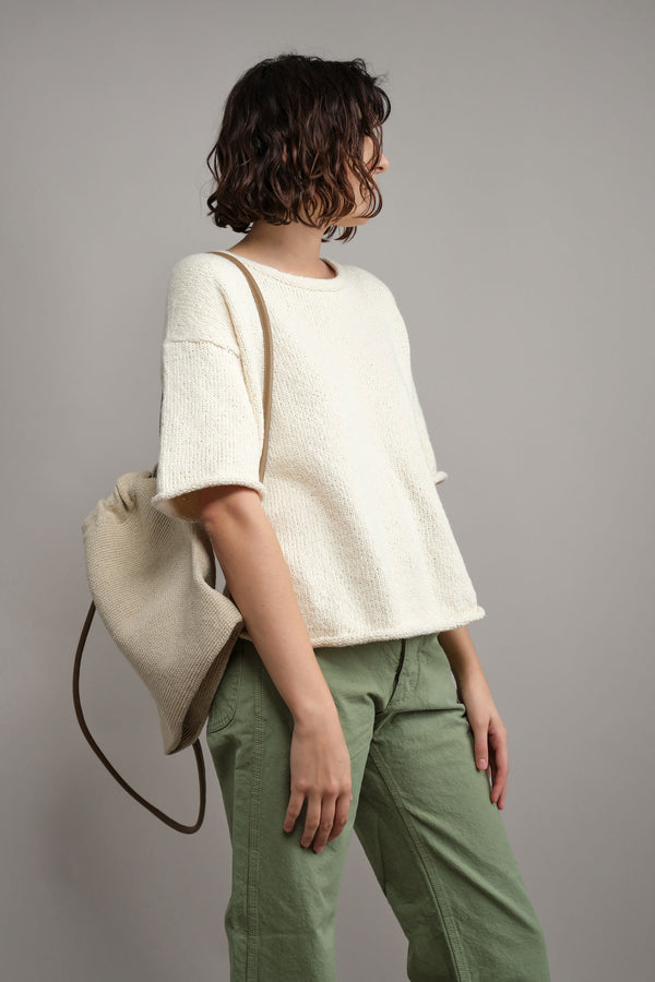 Lauren Manoogian Oval Backpack in Natural